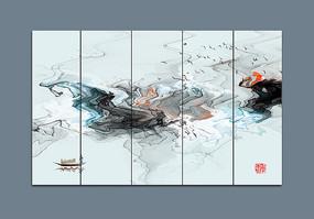 水墨山水畫中國風壁紙