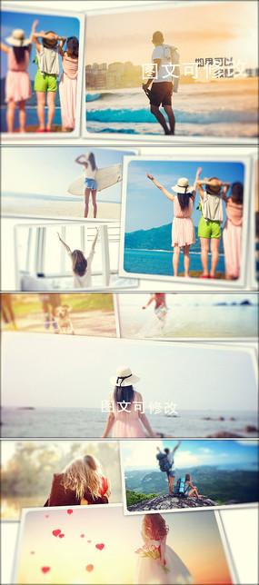 ae旅游相册模板