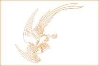 传统飞鸟雕刻图案