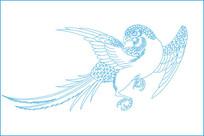 传统鸟纹雕刻图案