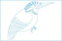 传统小鸟雕刻图案