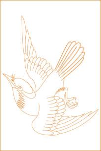 动态鸟纹雕刻图案