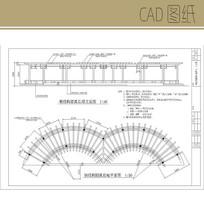 钢结构圆弧长廊CAD