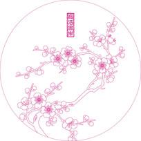 梅花花纹雕刻图案