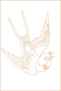 燕子纹雕刻图案