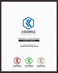 原创K字母标志设计