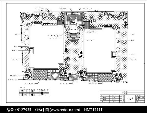 别墅休闲庭院景观CAD图片