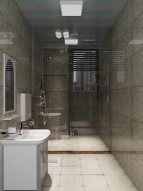 3D欧式洗手间模型与效果图
