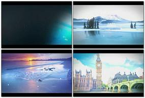 动态线条景观展示视频模板