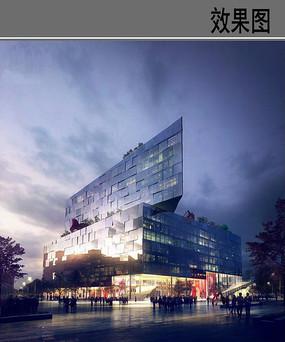 校园媒体中心建筑设计效果图