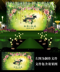 森系爱丽丝婚礼甜品台设计
