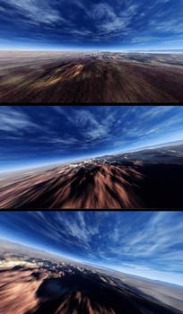 低空穿梭高速飞行视频素材