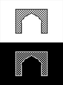 欧式极简风格镂空背景墙图案