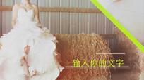 色块划屏婚礼相册展示视频模板
