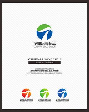 时尚科技T字母变形标志设计