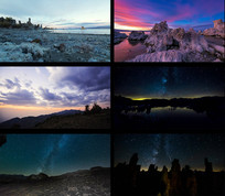 唯美夜空高清风景延时拍摄视频