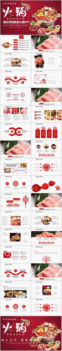 餐饮美食火锅PPT模板