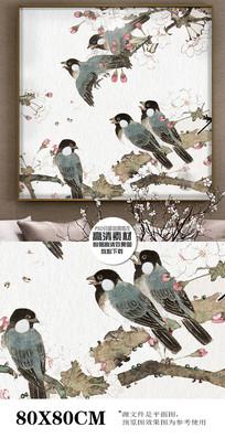 工笔画花鸟装饰画