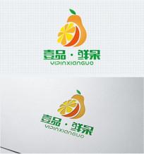 果汁新鲜果蔬标识设计