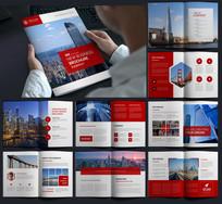 红色企业文化宣传册