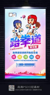 炫彩跆拳道招生海报