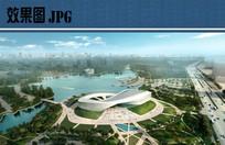 城市规划展示馆鸟瞰效果图