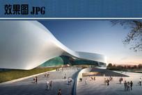 城市规划展示馆主入口效果图