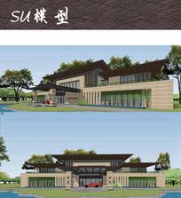 国宾馆建筑模型SU
