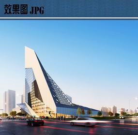展览馆建筑设计透视图