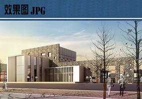展览馆建筑设计效果图