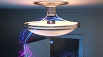 光束穿过家中的电器视频素材