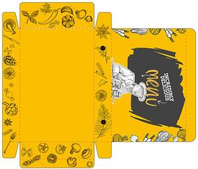 简约洋气蛋挞包装盒设计