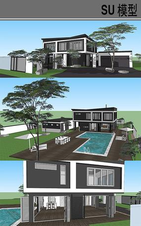 新中式别墅庭院
