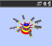 彩色游乐设施3D模型