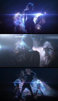 动感粒子光影舞蹈人跳舞视频