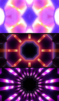 几何立体空间迪吧舞曲视频背景
