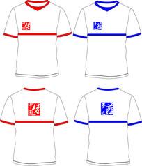 大气简约中国梦梦之蓝T恤