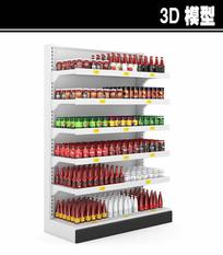 番茄酱调料柜架3D模型