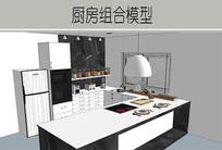 黑白厨房室内装修