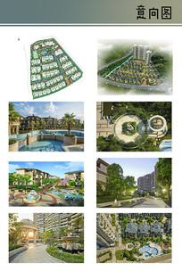 住宅区庭院景观意向图