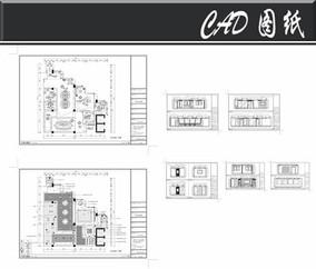 现代中式风办公室平立面图