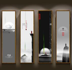 茶文化装饰画挂图模版 PSD