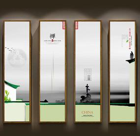 中国风茶装饰画设计 PSD
