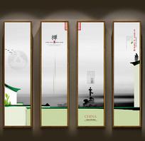 中国风茶装饰画设计