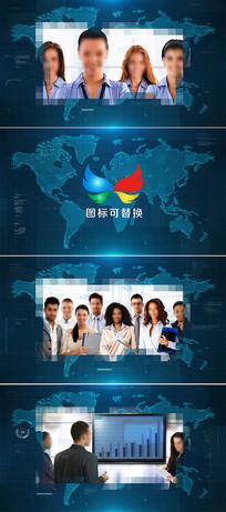 简洁大气科技企业宣传片头模板