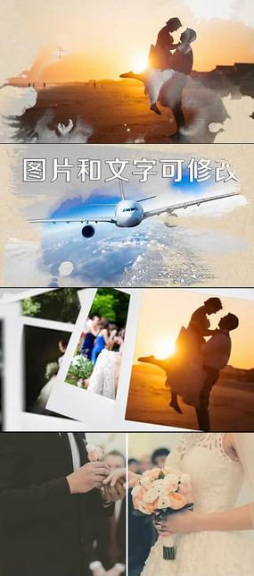 浪漫婚礼相册pr模板