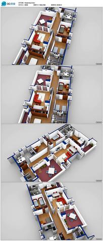 3d建筑模型俯视视频
