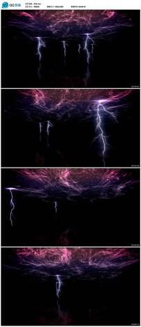 闪电云层背景视频