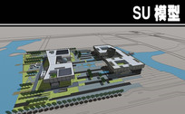 某科技馆文体建筑模型