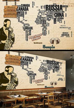 酒吧背景墙